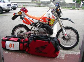 バイクとバッグ