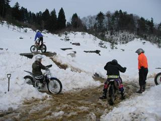 雪の中のセクション