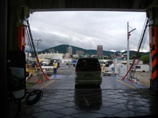 小樽港上陸