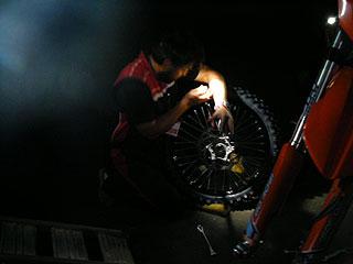 KTMタイヤ交換