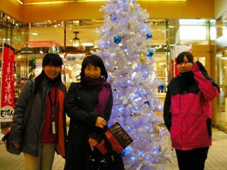 長岡駅にて