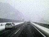 雪の磐越道