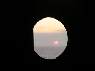 フェリーから見る夕陽
