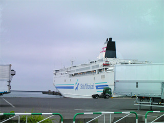小樽港到着
