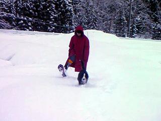 スノーシューで散歩