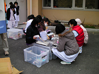 病院の避難所