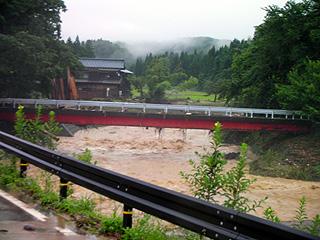 上塩の赤い橋