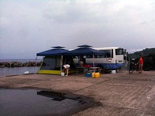 テント設置