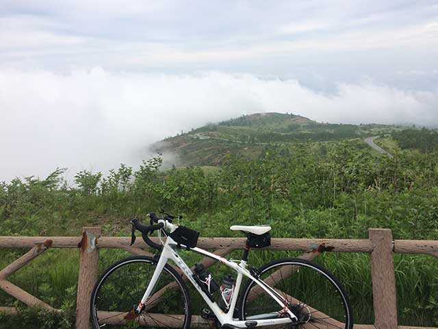 見晴台で自転車