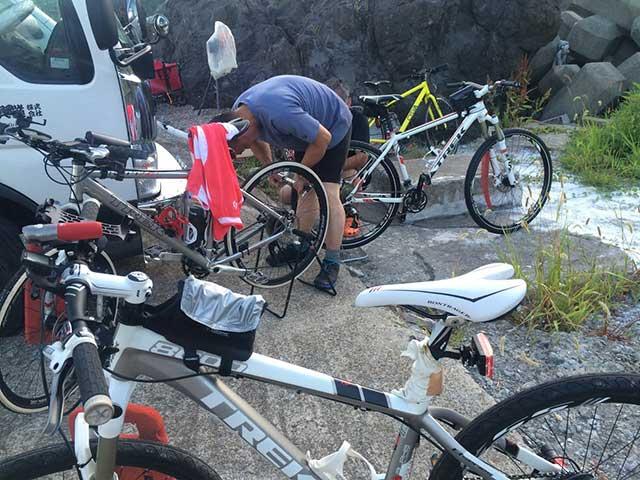 自転車準備